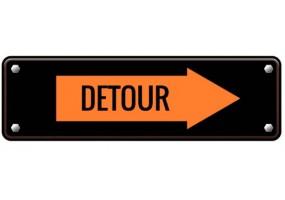 Sticker panneau detour