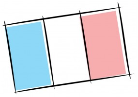 Sticker France drapeau