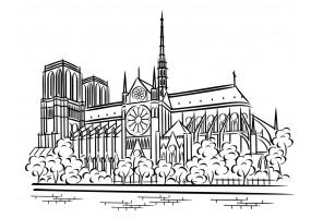 Sticker Paris Notre-Dame