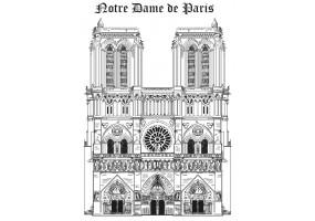 Sticker Notre Dame de Paris