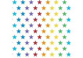 Sticker arc en ciel étoiles