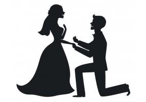 Sticker mariage demande