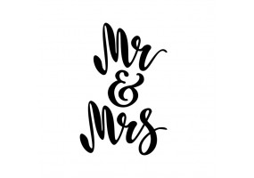 Sticker mariage Mr Mrs