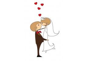 Sticker mariage bonheur