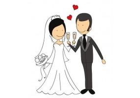 Sticker mariage champagne