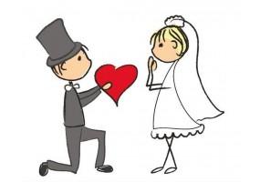 Sticker mariage cœur