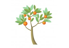 Sticker arbre fruit