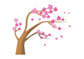 Sticker arbre fleur cerisier