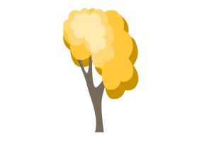 Sticker arbre jaune