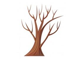 Sticker arbre mort