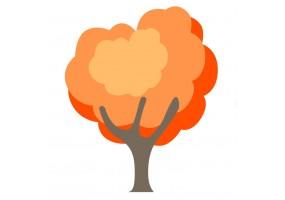 Sticker arbre orange