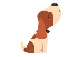 Sticker cartoon chien mignon