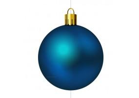 Autocollant boule de noel bleue