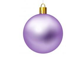 Autocollant boule de noel violette