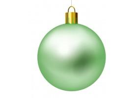 Autocollant boule de noel verte