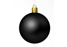 Autocollant boule de noel noire