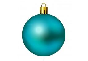 Autocollant boule de noel turquoise