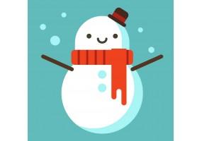 sticker bonhomme neige