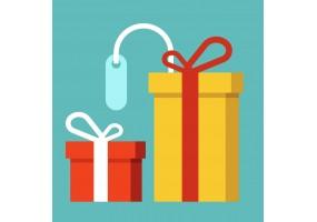 sticker noel cadeaux