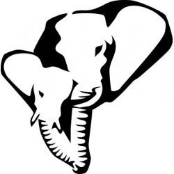 Sticker Girafe silhouette