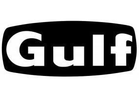 Sticker Gulf blanc noir