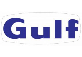 Sticker Gulf bleu marine avec fond