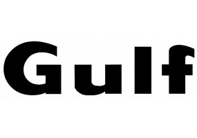 Sticker Gulf noir lettre