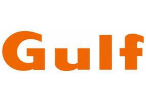 Sticker Gulf orange lettre