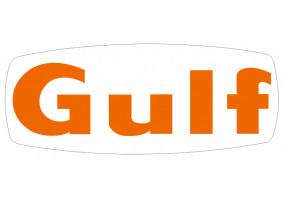 Sticker Gulf orange avec fond