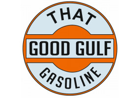 Sticker Gulf orange vintage