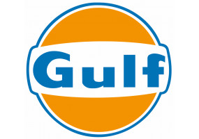 Sticker Gulf orange bleu vintage
