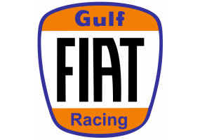 Sticker Gulf orange bleu noir fiat