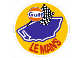 Sticker Gulf le mans