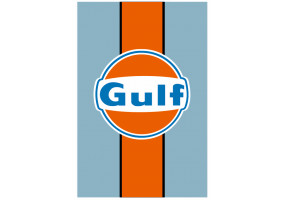 Sticker Gulf orange bleu