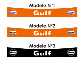 Sticker Gulf bande orange noir logo