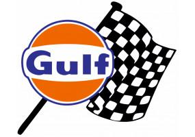 Sticker Gulf damier drapeau droite