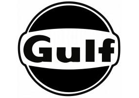 Sticker Gulf noir blanc