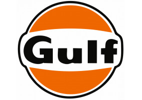 Sticker Gulf noir orange