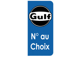 Sticker Gulf plaque immatriculation noir blanc