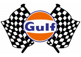 Sticker Gulf damier drapeau