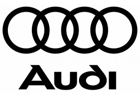 Sticker AUDI logo lettrage noir