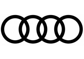 Sticker AUDI logo noir