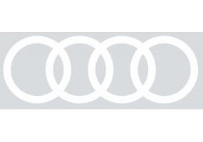 Sticker AUDI logo blanc gris