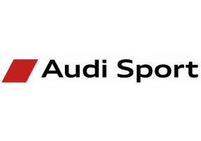 Sticker AUDI sport blanc rouge noir