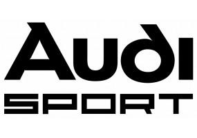 Sticker AUDI sport blanc noir