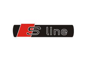 Sticker AUDI S line noir rouge