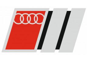 Sticker AUDI rouge gris noir