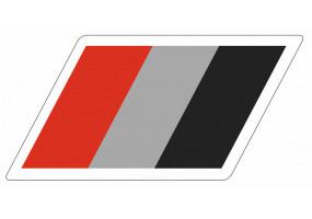 Sticker AUDI orange gris noir