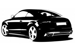 Sticker AUDI voiture blanc noir