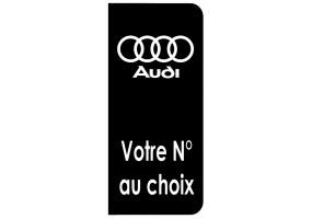 Sticker AUDI plaque immatriculation